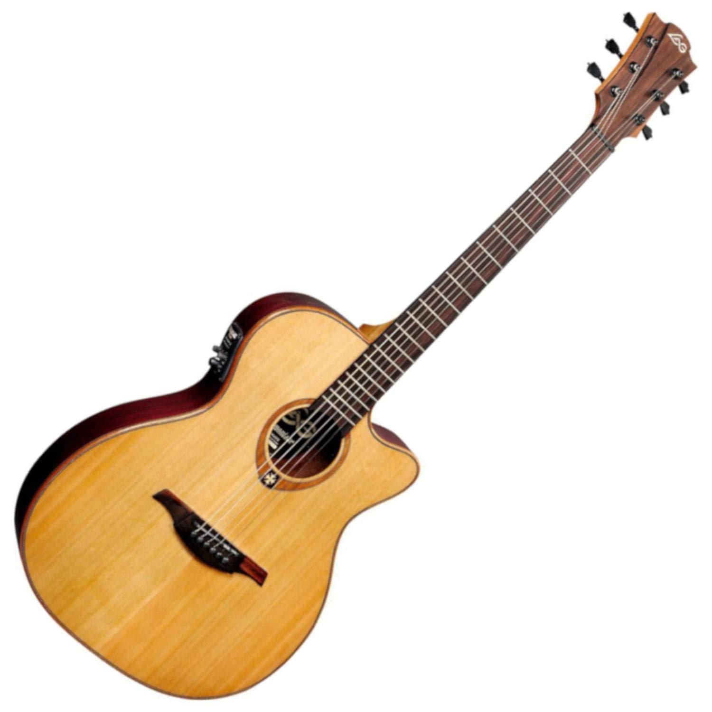LAG T100ASCE Auditorium Slimline Guitarra eléctrica acústica ...
