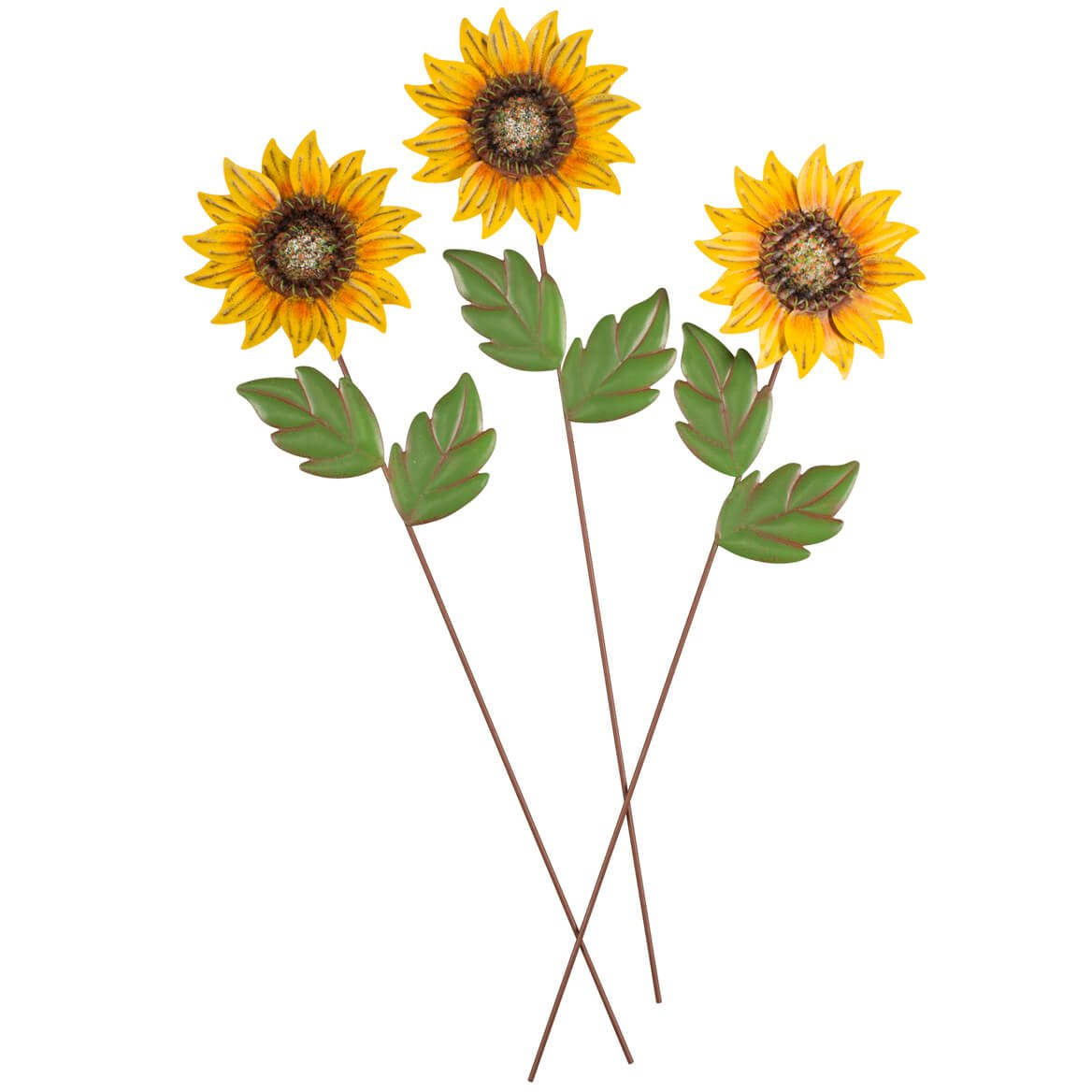 Miles Kimball Sunflower Stakes, Set of 3 Maple Lane Creations