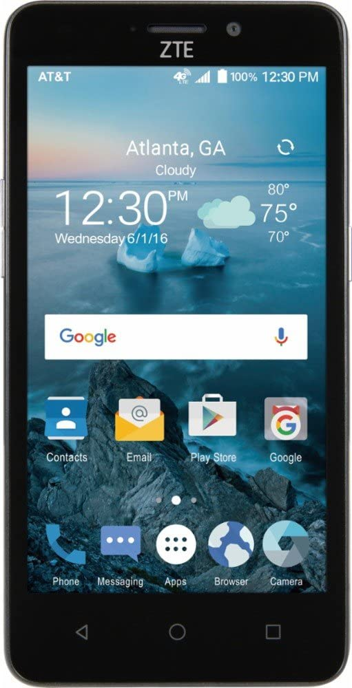 New AT&T ZTE Maven 2 4G LTE with 8GB Memory Cell Phone - Dark Gray