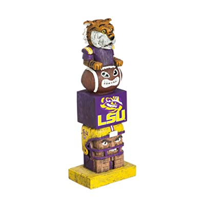 Team Sports America NCAA LSU Tigers Tiki Totem : Sports & Outdoors