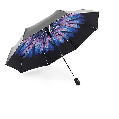 949690d23f59 Automatic Travel Umbrella Compact Mini Umbrella Windproof Folding Rain  Umbrella Auto Open/Close Lightweight Small Umbrellas for Women Men Kids  (Purple ...