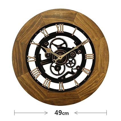 reloj de pared Números Romanos Vintage Retro Relojes Grandes Decoración para el hogar Sala de Estar