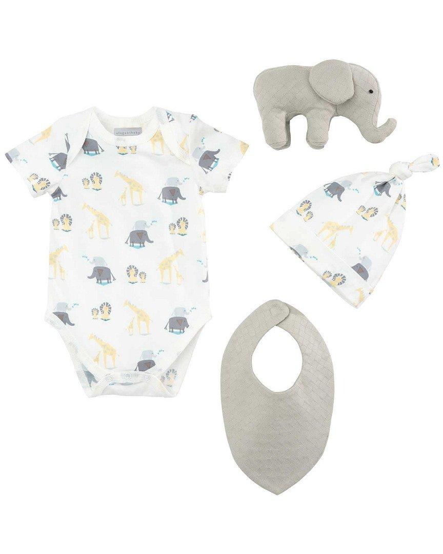 Elegant Baby Elephant Organic Gift Set, 0-6 Months