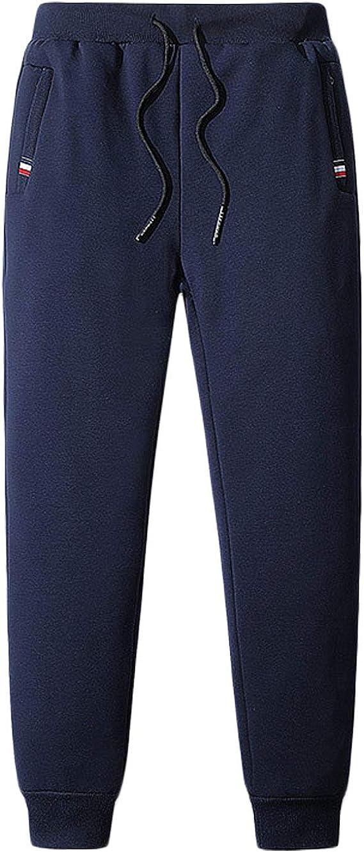 Jenkoon Mens Athletics Fleece Jogger Pants Active Wear Running Training Trousers