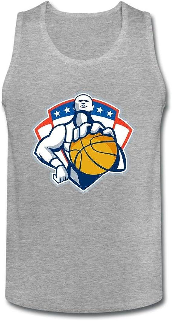 calyfree baloncesto jugador con bola Casual sin mangas camiseta de ...