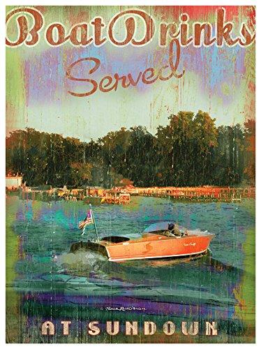 (Chris Craft Wood Boat Art by Patrick Reid O'Brien)