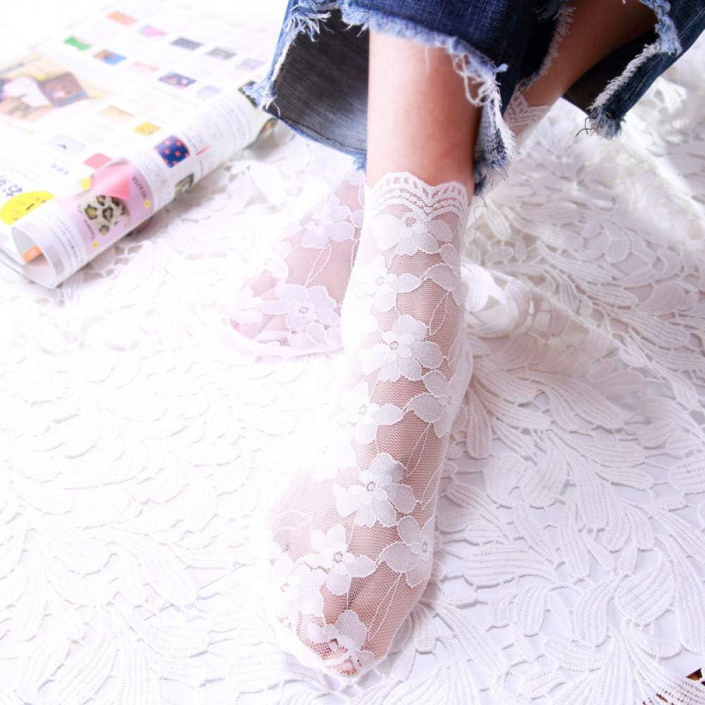 Elanpu Calcetines de Mujer Moda Primavera Otoño Malla Algodón ...