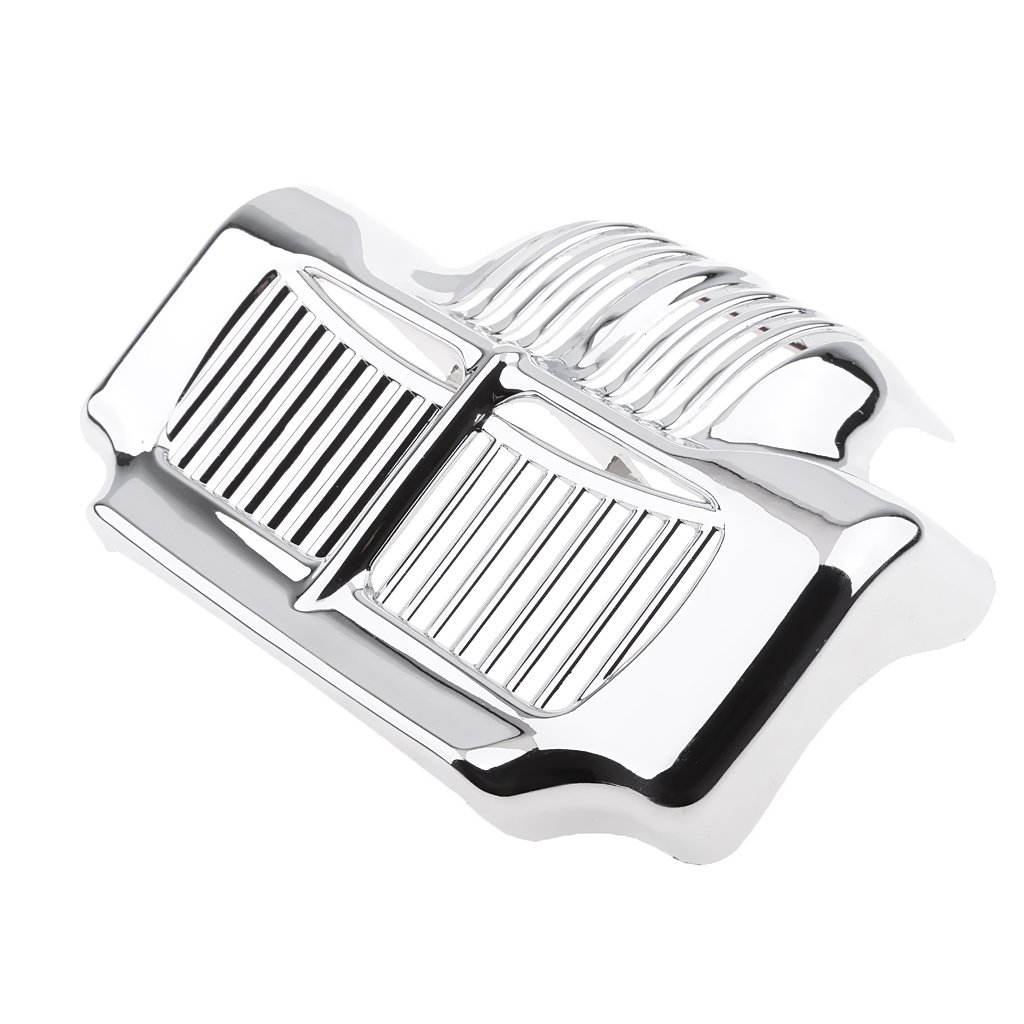 MagiDeal Motorcycle Stock Oil Cooler Cover for Harley Touring Electra 2011 2012 2013 2014 2015 - Chrome