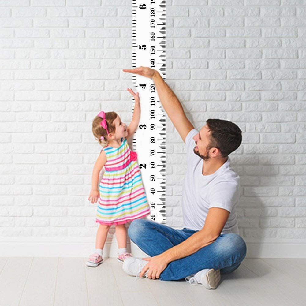 "Anpatio Child Growth Chart, 7.9"" x 79"" Wall Hanging Height Chart Baby Growth Height Ruler Baby Record Events Canvas Card Removeable Infant Toddlers Boys Girls Bedroom Decoration"