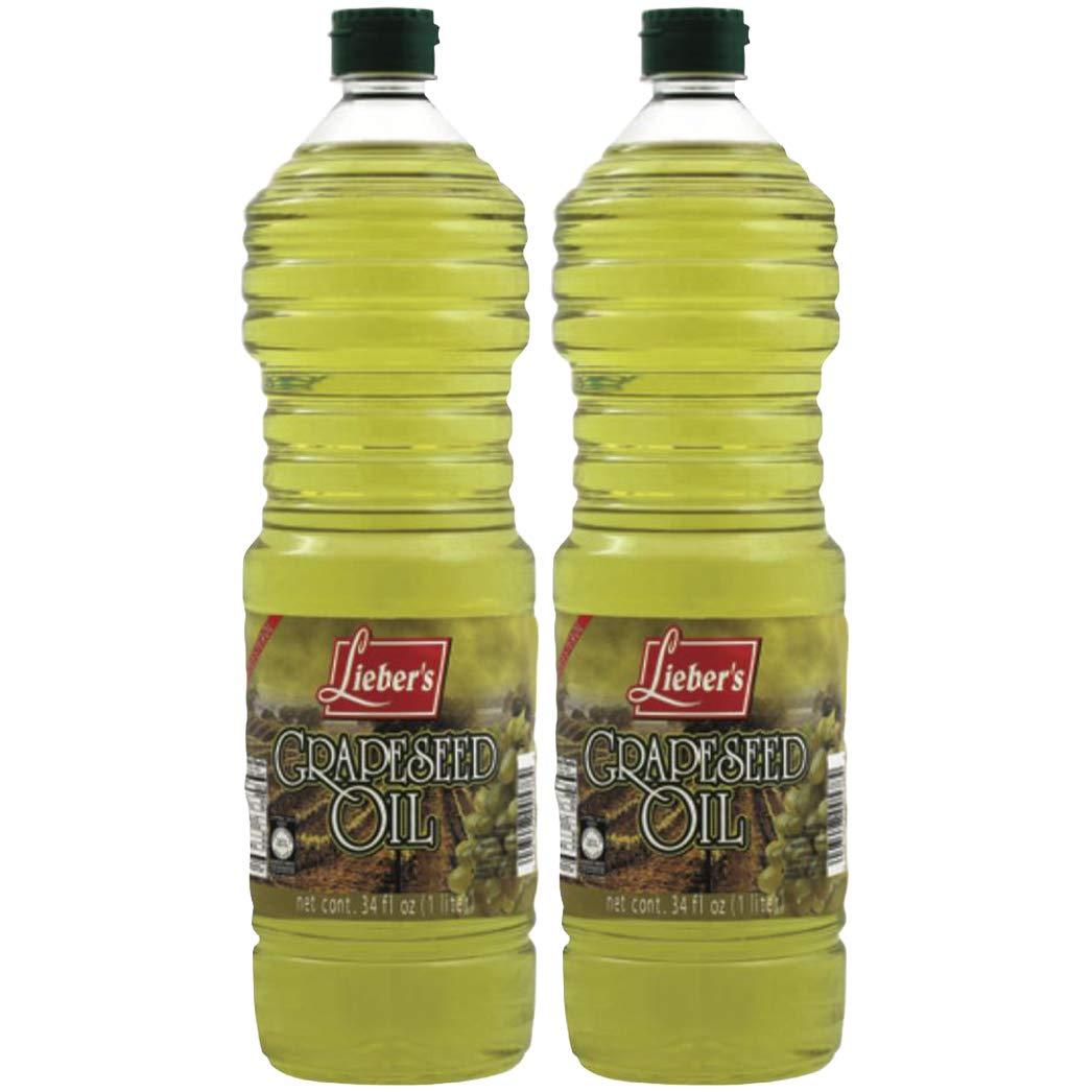 Lieber's Grapeseed Oil, 34 Fluid Ounce (2-Pack) by Lieber's