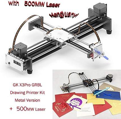 GKDraw X3 DIY Corexy XY GRBL Rastrador de Dibujo máquina Kit de Letras Robot Art CNC Escritura Robot Juguetes Módulo Laser with 2500MW Laser Head: Amazon.es: Informática