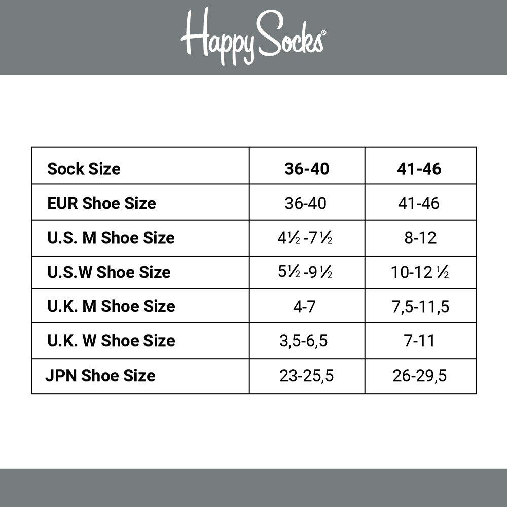 Happy Socks The Beatles Collector Box Set Blue,Green,Orange,Purple,Red,Yellow 41-46