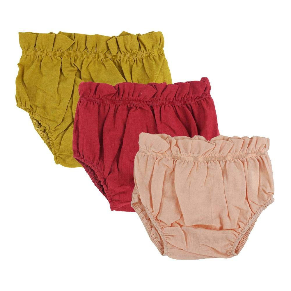 Wennikids Baby Toddler Girls Boys Diaper Covers Cotton Bloomer Shorts Pack of 3 LC-RS-620