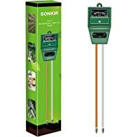 Sonkir pH-meter voor grond, MS02 3-in-1 bodemvocht/licht/pH-tester Tuingereedschapssets voor plantenverzorging, ideaal…