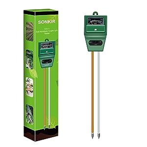 Sonkir Soil Moisture/Light/pH Tester Gardening Tool Kits