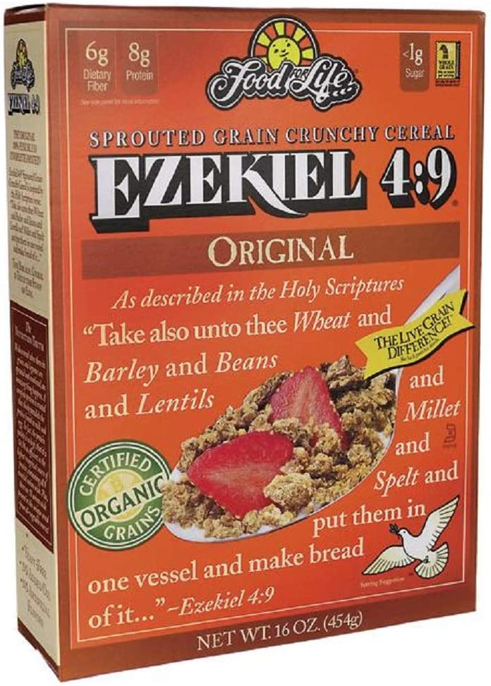 Food For Life Ezekiel 4:9 Sprouted Grain Cereal Original -- 16 oz Each / Pack of 2