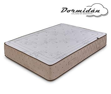 Dormidán - Colchón Compuesto de Lana y algodón Natural, Tejido Stretch y Terciopelo, Oxycell Medida 135 x 200 cm: Amazon.es: Hogar