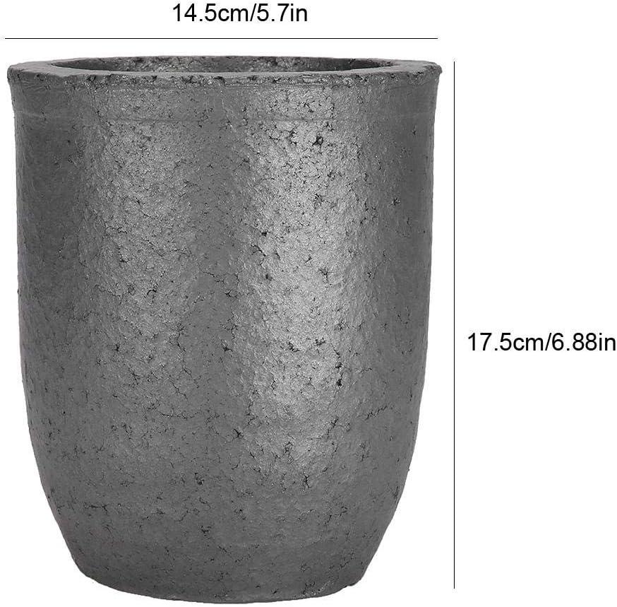 JULYKAI Gie/ßerei Ton Graphit Tiegel Tasse Tasse Form Siliziumkarbid Graphit Ofen Guss Tiegel Schmelzwerkzeug 6 kg Ofen Fackel Schmelzguss Raffinieren Gold Silber Kupfer