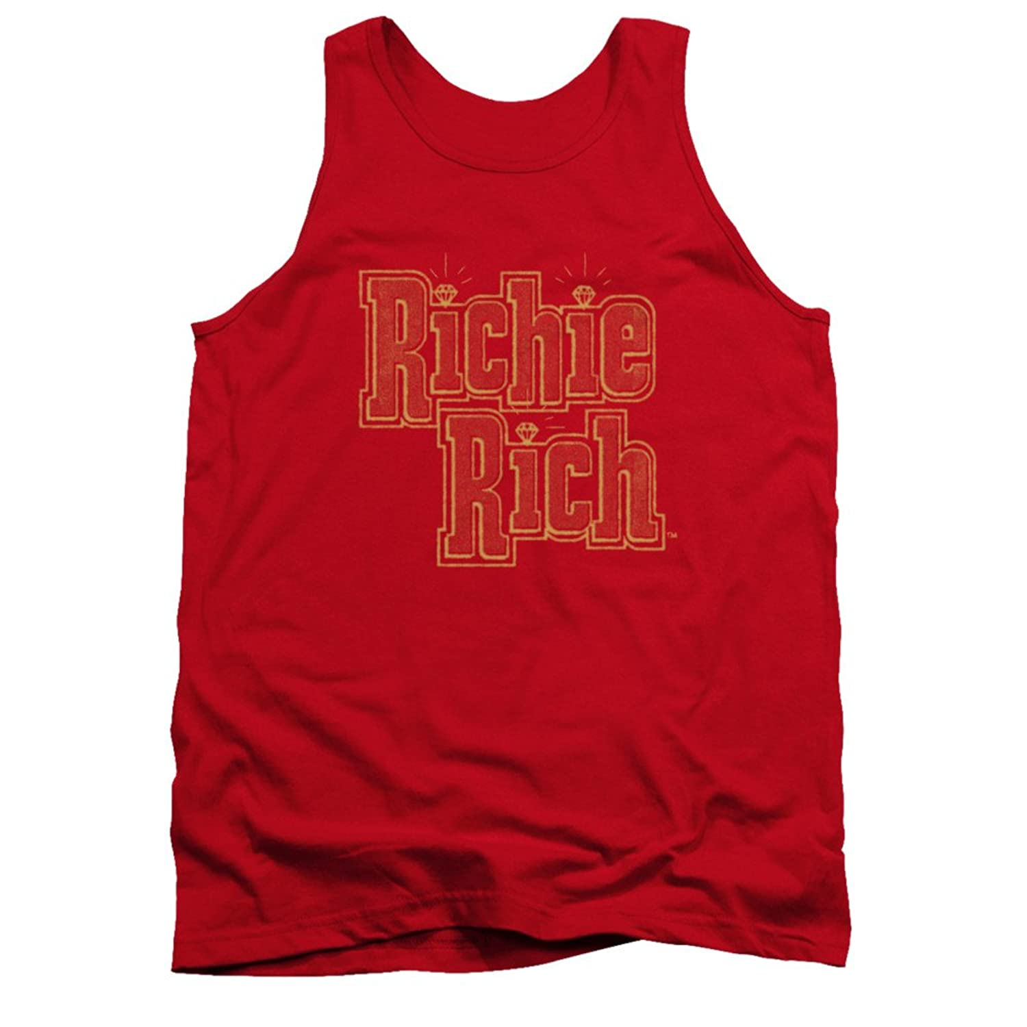 Richie Rich Harvey Comics Character Vinatage Stacked Logo Red Adult Tank Shirt
