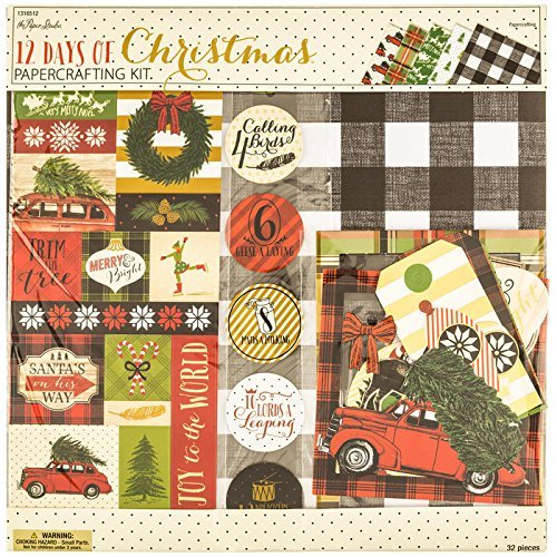 Christmas Scrapbook Page Kit - 12 Days of Christmas - 12x12 Scrapbook Page Kit -