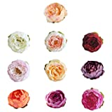 Artificial Flowers Fake Flowers Silk Imitated Peony Western Peony Buds Vine Rose Wedding Decor Artificial Garland Silk Flower Party Kitchen Home Decor 10 Pcs