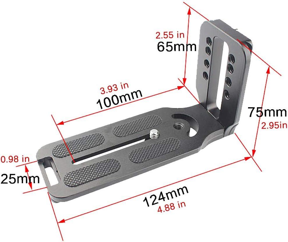 Balaweis L Shape Bracket Quick Shoe QR Plate Vertical Video Shooting Universal Tripod L Bracket with 1//4 Inch Screw for DSLR Camera Compatible with Canon Nikon Sony DJI Osmo Ronin Zhiyun DSRL Camera
