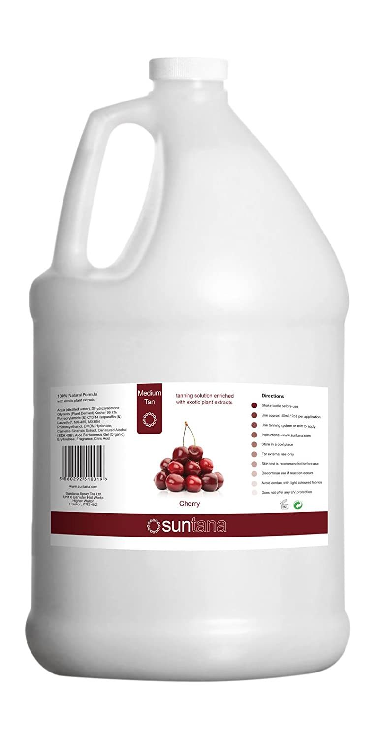 128oz Spray Tan Solution - Cherry Fragrance 10% DHA Premium Sunless Solution
