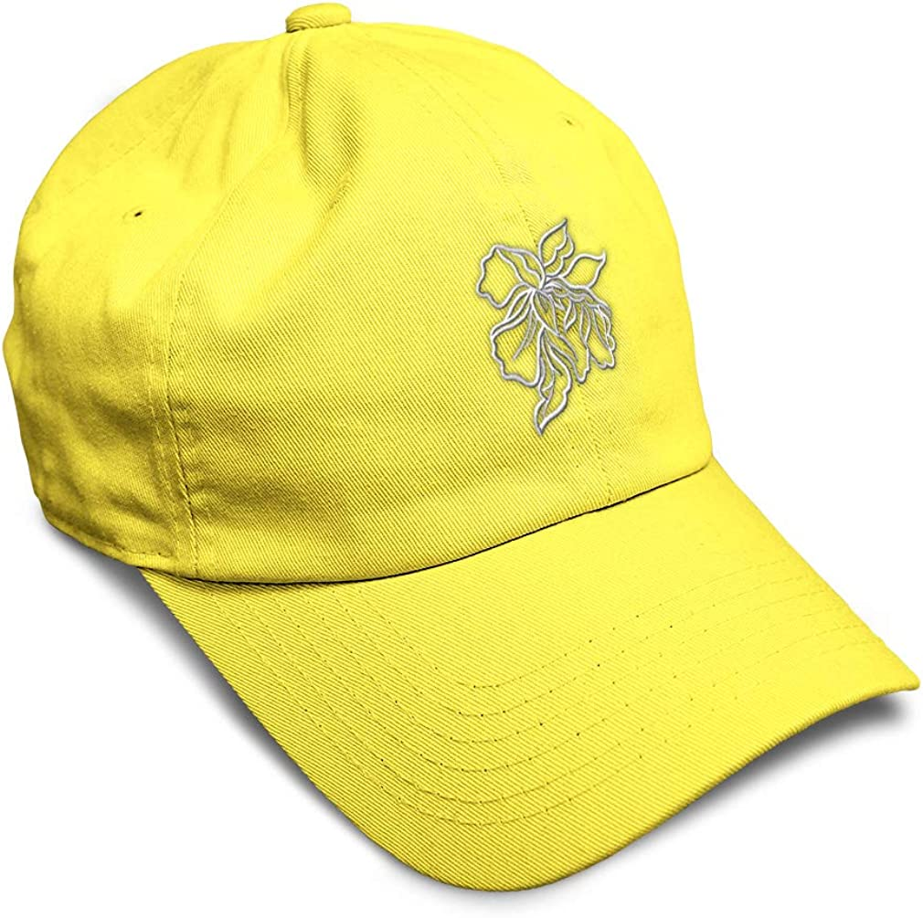 Custom Soft Baseball Cap Orchid Outline White B Embroidery Twill Cotton