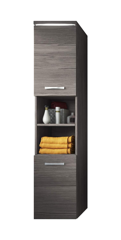 Storage cabinet Paso 160cm height Bodega (grey) - Storage cabinet tall cupboard bathroom furniture Badplaats