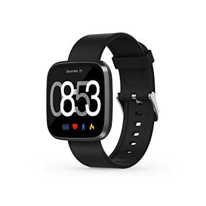 Giyastar Touchscreen Sport Waterproof Smartwatch with Blood Pressure,Heart Rate,Sleep Monitor,Call Message Reminder (Black)