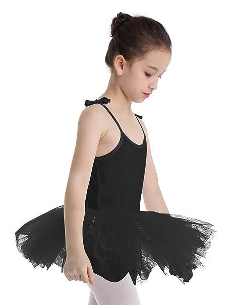 YiZYiF Vestido Danza Niñas Maillot Tutú Ballet con Falda Leotardo ...
