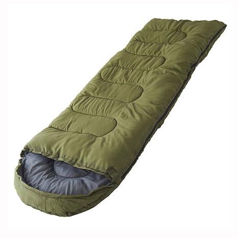 Seasofbeauty saco de dormir caliente adulto bolsas de vivac Camping Exterior Sleeping Bag, verde