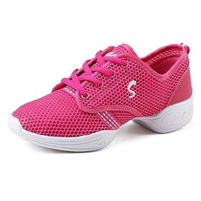a7404e1869f8 Damen Sneaker jazzdance Schuhe Fitness Halbschuhe Sportschuhe(EU 35,  Schwarz) CHNHIRA