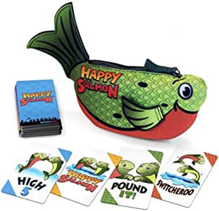 North Star Games Happy Salmon Family Card Game | Green | Fast Paced High-fivin', Fin-flappin' Fun!