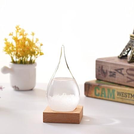 Barómetro de cristal Ltneo con diseño creativo y elegante, con forma de gota, para la previsión meteorológica, tipo de producto inventado en el siglo XVII ...