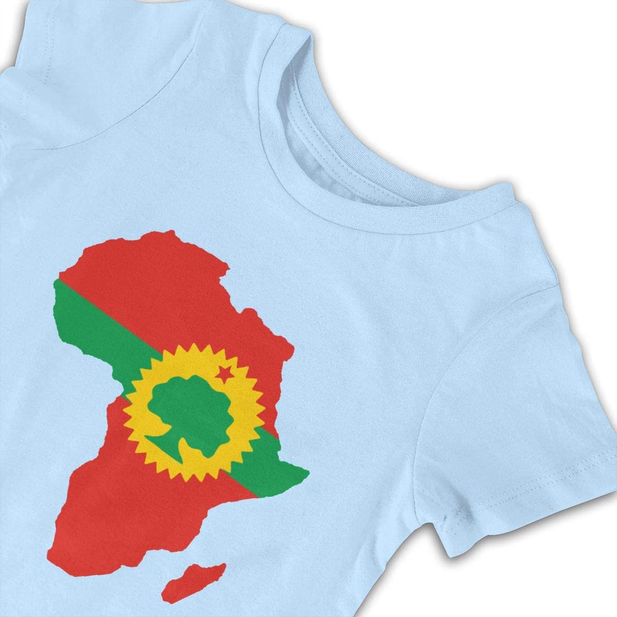 Merahans Oromo Flag On Map of Africa Unisex Baby Short Sleeve Rompers Cotton One-Piece Jumpsuit