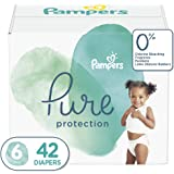 Diapers Size 6, 42 Count - Pampers Pure Protection Disposable Baby Diapers, Hypoallergenic and Unscented Protection…