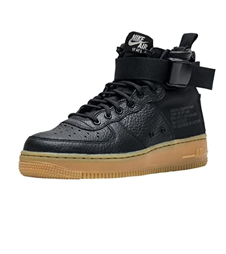 Amazon.com | NIKE SF Air Force 1 Mid Women Black Gum AA3966-002 ...