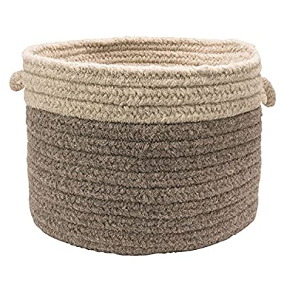 Colonial Mills WL35 18 by 18 by 12-Inch Bristol Storage Basket, Bark - Wool: Wool yarns create a texturized, heathered look with unmatched quality, durability, and timeless style. Functional Decor: Use simultaneously as a decorative accent to your design style and as a practical addition to your home Handcrafted: Manufactured at our factory in Rhode Island, this item is made-to-order and handcrafted with a personal touch of American craftsmanship. - living-room-decor, living-room, baskets-storage - 610E8TxHM5L. SS400  -