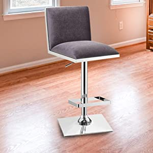 William's Home Furnishing WI-BR6462GY Orjan Bar Stool in Gray Finish