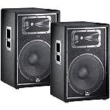 JBL JRX215 15' Passive Two-Way Speaker Pair PA Package