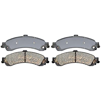 ACDelco 14D834CH Advantage Ceramic Rear Disc Brake Pad Set with Hardware: Automotive
