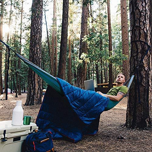 Camping Hammock, Double & Single Portable Hammocks with Tree Straps, Lightweight Nylon Parachute Hammocks for Hiking Travel Backpacking Beach Yard Gear   2 x Premium carabiners, 2 x Nylon Loops
