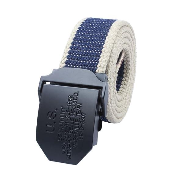 Lihaer Hombres Casual Cinturones De Lona Cinturón De Deportes Elástico Ajustable Al Aire Libre G42Z21