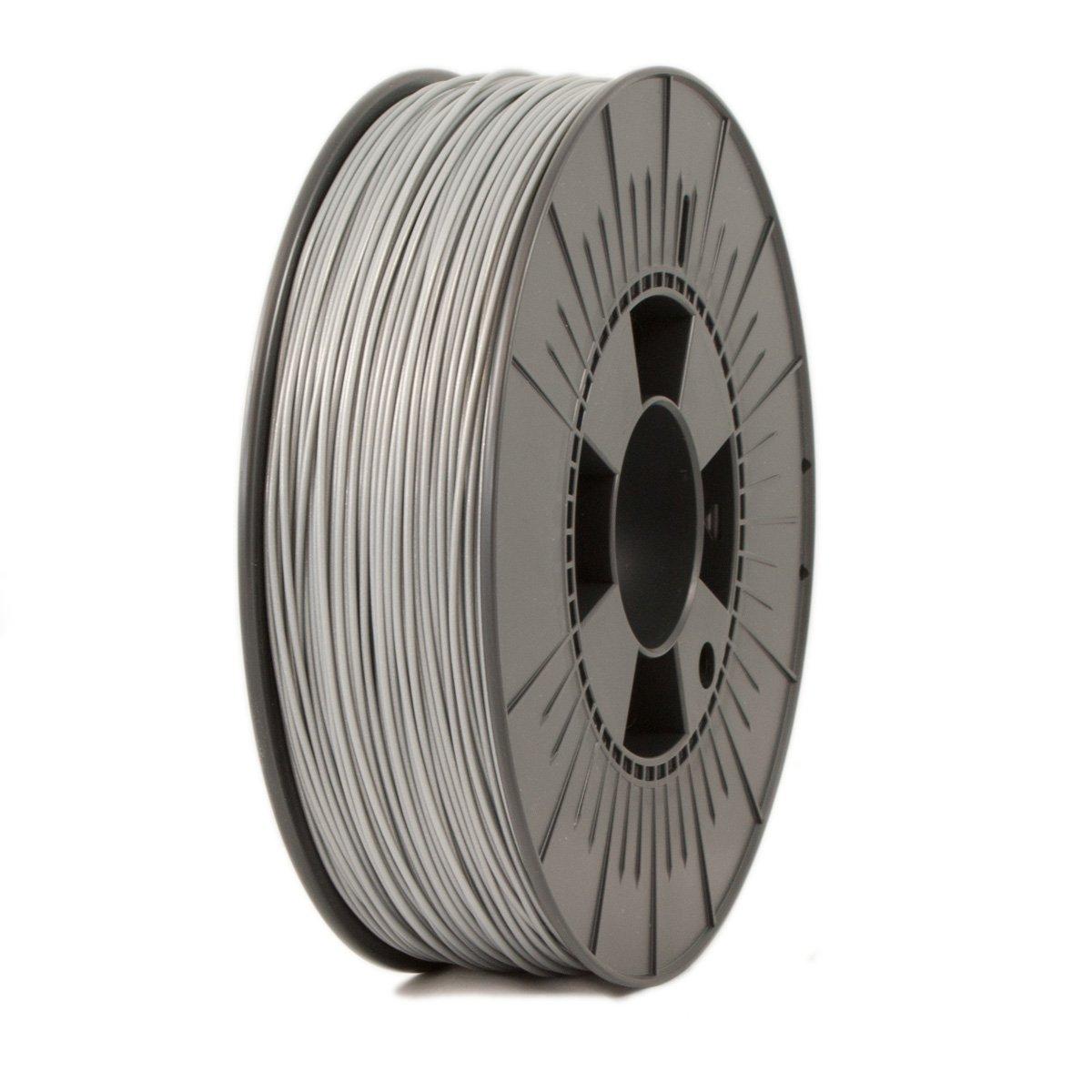 Ice Filaments ICEFIL1PLA116 Filamento PLA, 1,75 mm, 0,75 kg, Plata