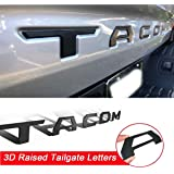 Tailgate Insert Letters Compatible with Tacoma 2016-2020 3D Raised Strong Adhesive Decals Letters (Matte Black)