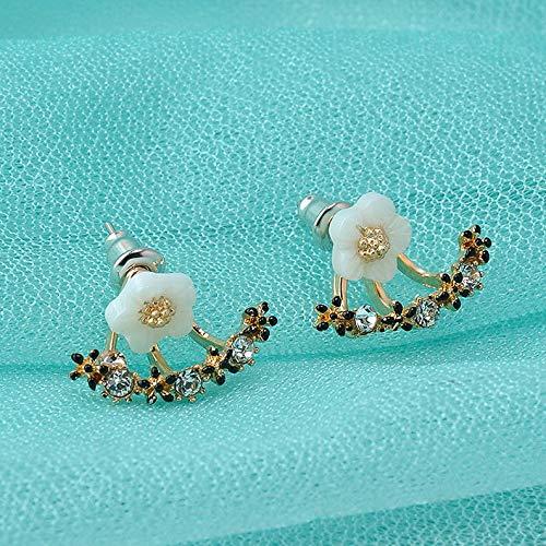 Wausa Women Cute Double Sided Ear Jacket Piercing Water Drop Crystal Earrings Jewelry | Model ERRNGS - 10551 |