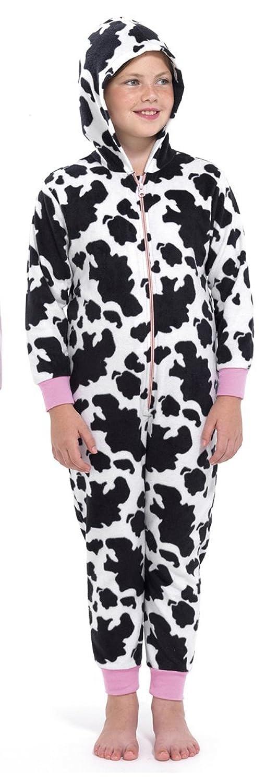 Animal de pyjama print bain 1 pièce pour fille