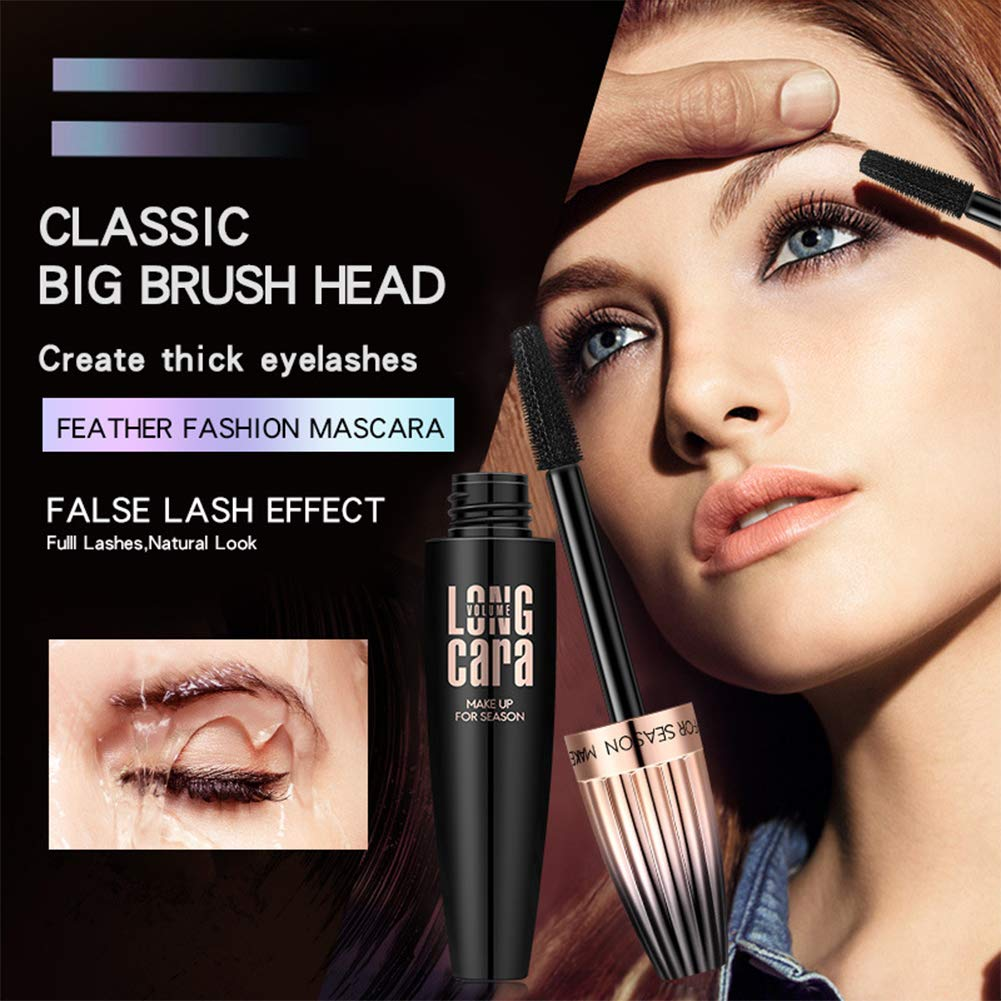 d5de09abd53 Amazon.com : 4D Silk Fiber Lash Mascara Waterproof Black - Lengthening,  Volumizing, Thrive, Long-Lasting : Beauty