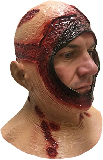 Rubber Johnnies, Bloody Hood MASK, Full Head, Adult, Latex, Jason , Halloween Accessories , Horror , Movie , Scary